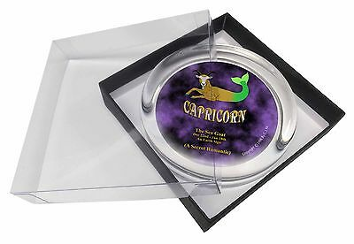 Capricorn Star Sign Birthday Gift Glass Paperweight in Gift Box Christ, ZOD-10PW