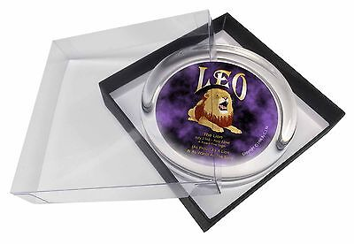 Leo Astrology Star Sign Birthday Gift Glass Paperweight in Gift Box Chr, ZOD-5PW