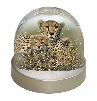 Cheetah and Cubs Photo Snow Dome Waterball Stocking Filler Gift, AT-23GL