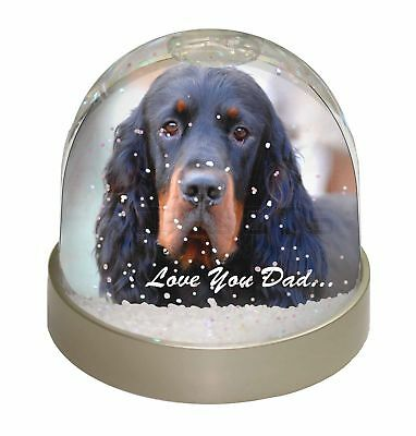 Gordon Setter 'Love You Dad' Photo Snow Dome Waterball Stocking Filler, DAD-38GL