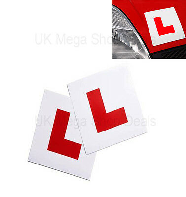 Genuin 2 x L Plate Fully Magnetic Exterior Car New Learner - Secure & Safe