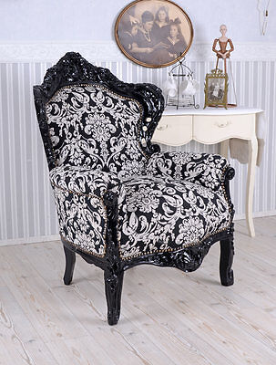 armlehnstuhl rokoko sessel vintage stuhl barock weiss creme eur 199 99 picclick de. Black Bedroom Furniture Sets. Home Design Ideas