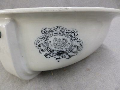 Antique JL Mott Vitreous China Marble Sink Wash Basin Old Vtg Plumbing 1011-16 • CAD $283.50