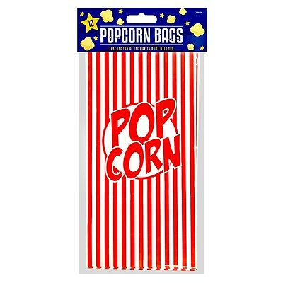 10 x 26cm Luxury Popcorn Paper Bags Sweets Candy Birthday Treat Party Favours