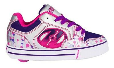 Heelys Motion Plus Girls Shoes - Silver / Pink / Purple Drip +FREE DELIVERY+HOW