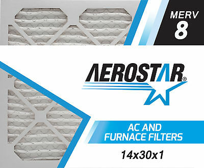 aerostar 14x30x1 merv 8, air filter, 14x30x1, box of 6 - $34.48 ...