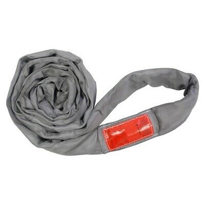 10Ft Endless Gray Round Sling 32000LB Vertical
