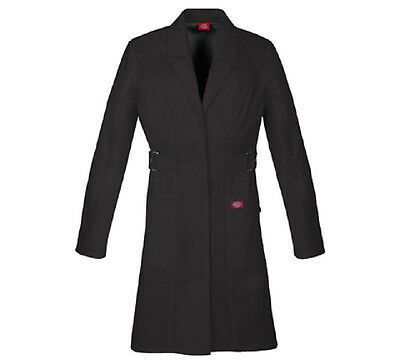 """Scrubs Dickies Jr. Fit 36"""" Youtility Lab Coat Black 82410  FREE SHIPPING"""