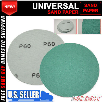 X10 Wet Dry Abrasive Sanding Paper Auto Body Repair Sanding Disc 60 Grit 5 Inch