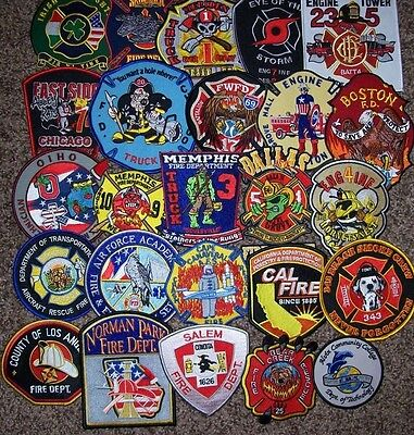 Clearance - Set # 31 - 25 Total Fire Patch Set  NO DUPLICATES IN SET