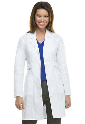 "Scrubs Dickies Jr. Fit 36"" Youtility Lab Coat White  82410  FREE SHIPPING"