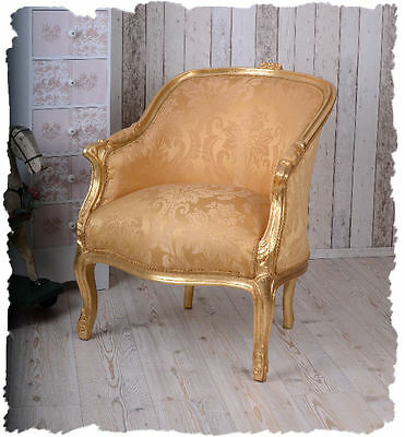 Chair Antique Gold Chair Rococo Baroque Armchair France Bergere