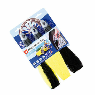 Alloy Wheel Cleaning Brush Set - 3 Brushes For Car Aluminium Wheels