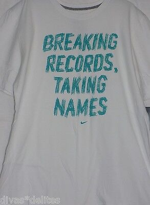 7a9bdb4c3 Men's Nike 'Breaking Records ' Graphic T-Shirt Color: White-Multi Size