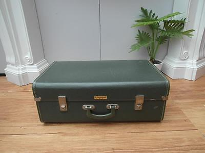 GREEN Vintage RETRO Large VOYAGER Suitcase TRAVEL or DISPLAY Adelaide