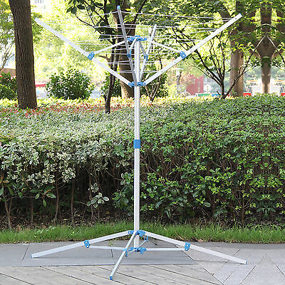 Clothes Airer Portable Rotary Washing Line 4 Arm Free Standing Multi Laundry