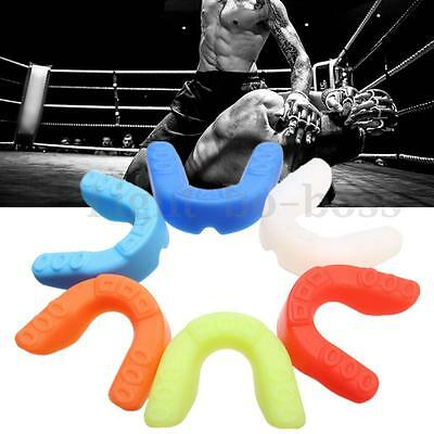 Silicone Mouthguard Mouth Guard Gum Shield Boil Bite For All Sports MMA Boxing