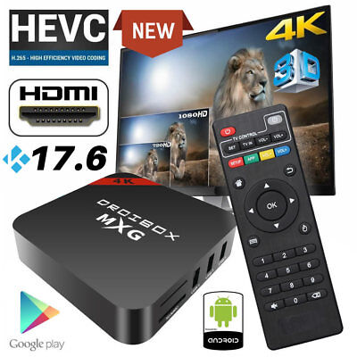 2019 JUSTOP MXG Quad Core Android 7.1 TV Box 4K Ultra HD Media Player WIFI UK