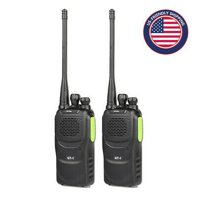 2* Baofeng GT-1 UHF 400-470MHz 5W 16CH FM Two-way Radio Walkie Talkie Twin Pack