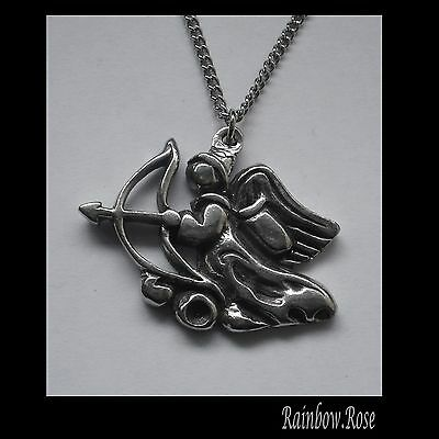 Chain Necklace #1377 Pewter ANGEL ARCHER (34mm x 28mm)