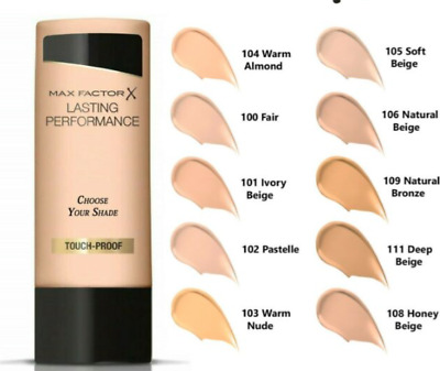MAX FACTOR LASTING PERFORMANCE TOUCH PROOF FOUNDATION 35ml Choose your shade