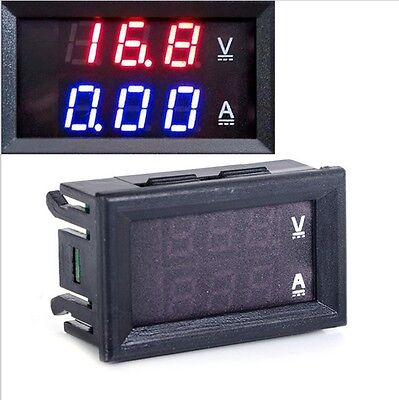 1PCS DC 0-100V 10A Dual LED Digital Voltmeter Ammeter Voltage AMP Power NEW CK