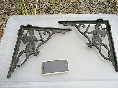 Old Iron Shelving Brackets Cistern Shelve Holder Roman? Soldier Shelf Knight