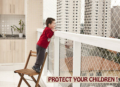 ** SAFETY NET SYSTEM FOR WINDOWS, BALCONIES AND STAIRS ** Childproof your home !