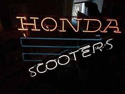 Vintage Honda Scooters Neon Sign Light 1970-80s RARE Everbright Electronic WORKS
