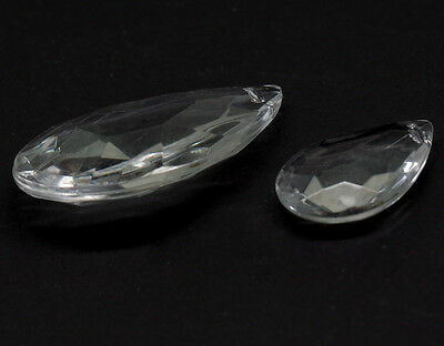 CRYSTAL FACETED TEARDROP JEWELL 50 x 30 mm-   for all leadlight work