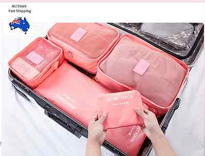 6pcs Clothes Storage Bags Packing Travel Luggage Organiser
