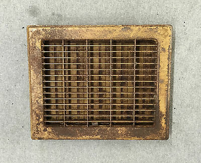 Vintage Stamped Steel Floor Heat Grate Register Vent Old Hardware 8x10 1021-16