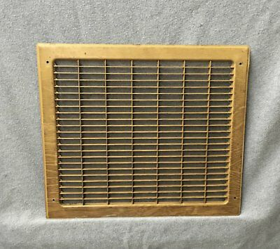 Vintage Stamped Steel Floor Heat Grate Ceiling Vent Old Hardware 12x14 1025-16