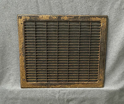Vintage Stamped Steel Floor Heat Grate Ceiling Vent Old Hardware 12x14 1026-16