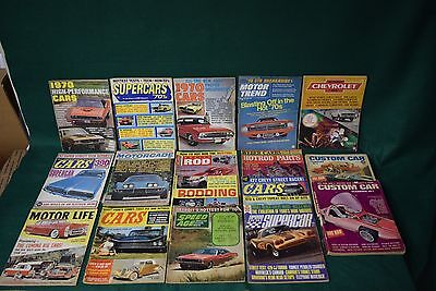 Lot of 17 Vintage Car Hot Rod Magazines 1950s-1960s-1970s