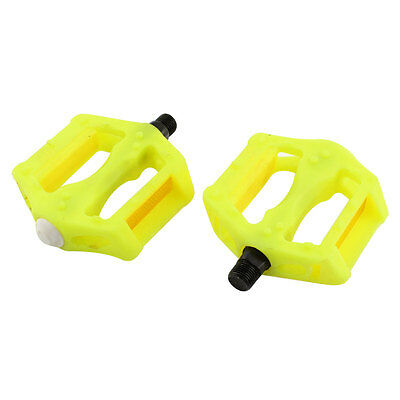 2 Pcs Yellow Plastic BMX Bike Pedals MTB Mountain Bicycle Platform
