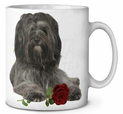 Tibetan Terrier with Red Rose Coffee/Tea Mug Christmas Stocking Fille, AD-TT2RMG