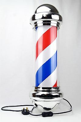 Jitsu LED Rotating Illuminating Barber Pole Sign Salon Hairdresser Shop 73cm