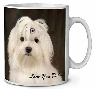Maltese Dog 'Love You Dad' Coffee/Tea Mug Christmas Stocking Filler Gi, DAD-77MG