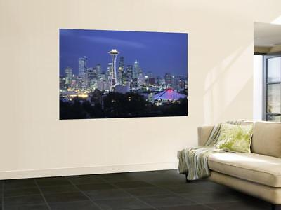 Poster Mural Geant Premium Seattle Skyline Fr Queen Anne Hill