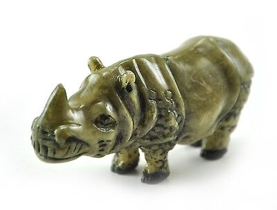 Vintage Chinese Japanese Rhino Rhinocero animal Resin Figurine NETSUKE