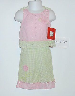 Infant Girls Baby Togs $52 3pc Brown /& Pink Jacket Set Size 12 Months-24 Months