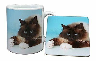 Beautiful Birman Cat Mug+Coaster Christmas/Birthday Gift Idea, AC-45MC