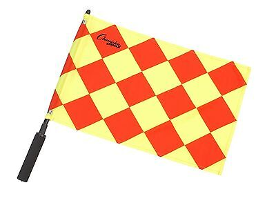 New Champion Sport Set 2 Linesman Official Referee Soccer Flags Diamond Pattern