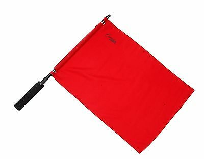 New Champion Sports Linesman Referee Soccer 2 Flag Set, 1 Solid Red & 1 Gold
