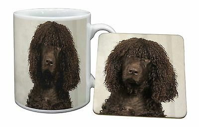 Irish Water Spaniel Dog Mug+Coaster Christmas/Birthday Gift Idea, AD-IWSMC