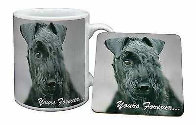 Kerry Blue Terrier 'Yours Forever' Mug+Coaster Christmas/Birthday Gif, AD-KB1yMC