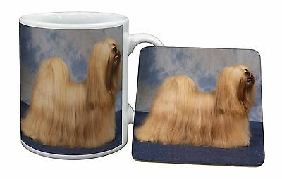 Lhasa Apso Dog Mug+Coaster Christmas/Birthday Gift Idea, AD-LA1MC