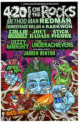 4:20 Eve On The Rocks w/ Method Man Redman  Red Rocks Concert Flyer / Gig Poster