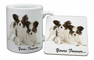 Papillon Dogs /'Yours Forever/' Bookmark Book Mark Birthday Gift Idea AD-PA66BM